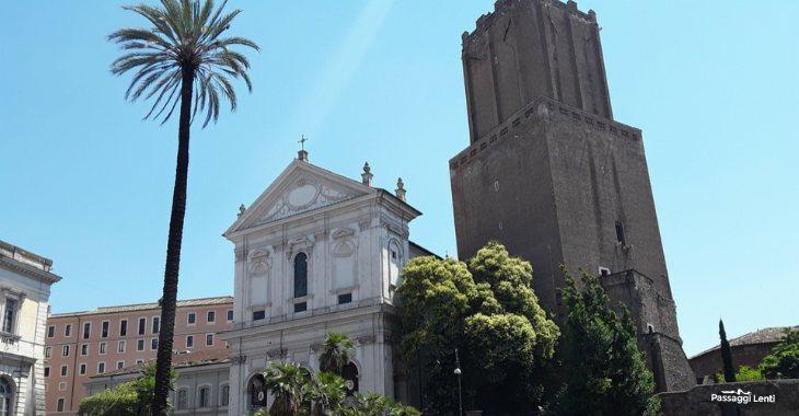 Largo Magnanapoli. La Chiesa di S. Caterina e la Torre