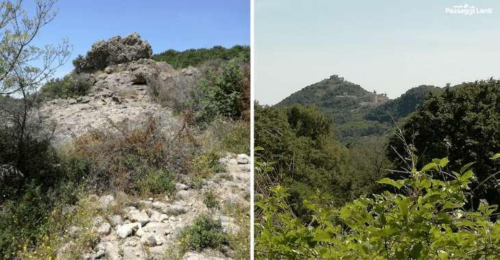 Escursione sul Monte Piantangeli, a destra la vista di Tolfa