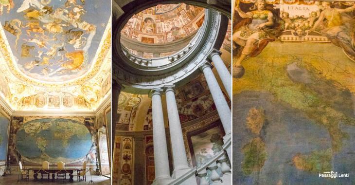 Gli interni di Palazzo Farnese a Caprarola