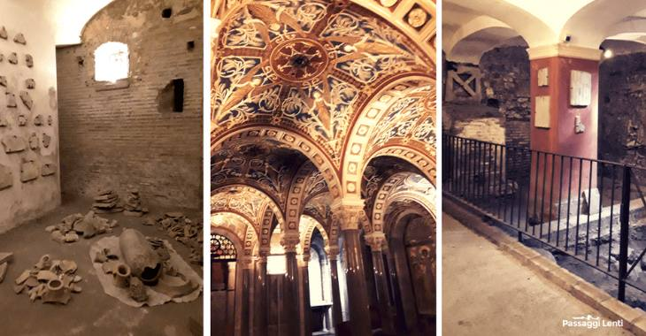 I sotterranei di Santa Cecilia in Trastevere a Roma