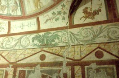 Case romane del Celio, affreschi