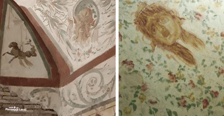 Case romane del Celio, particolari degli affreschi