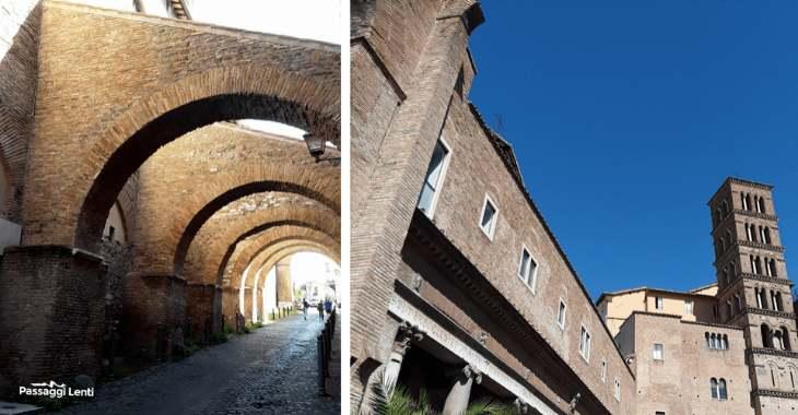Gli archi del Clivo di Scauro e la basilica dei Santi Giovanni e Paolo al Celio