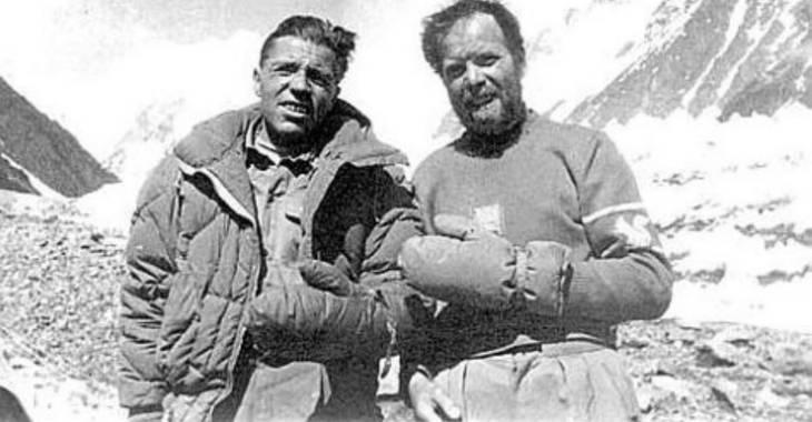 Achille Compagnoni (a sinistra) e Lino Lacedelli (a destra)