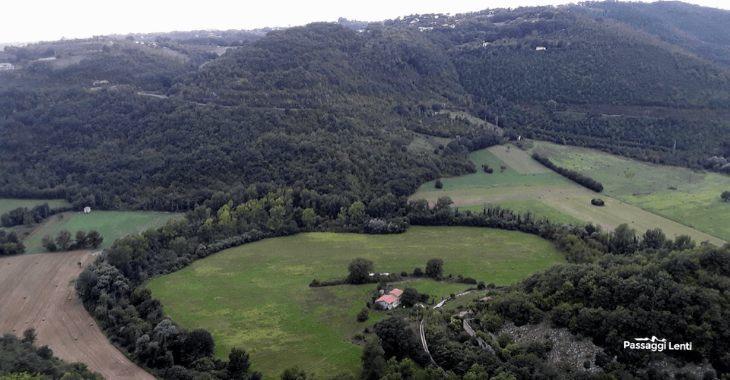 La Valle del Turano vista dal camminamento del Castello di Rocca Sinibalda