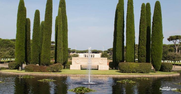 Cimitero americano di Nettuno, l'ingresso