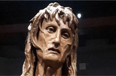 Particolare del volto della Maddalena Penitente di Donatello