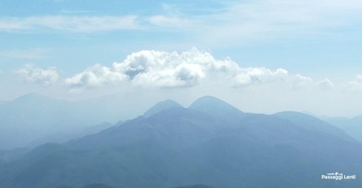 Il Velino visto dalla cima del Monte Pellecchia