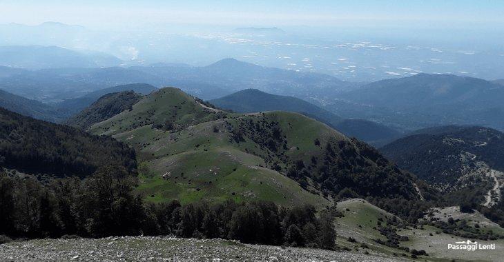 Il panorama sull'Agro Pontino visto dai Monti Lepini