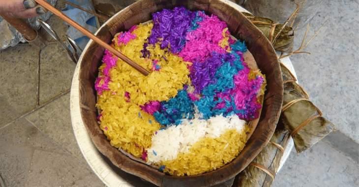 Cina. Riso glutinoso dai cinque colori