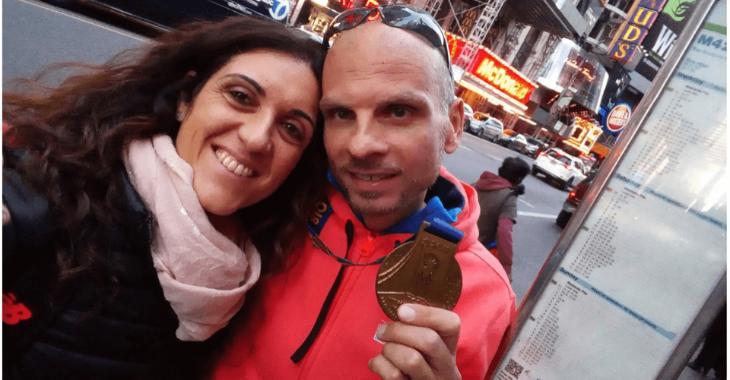 Simone alla Maratona di New York