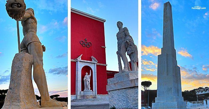 L'obelisco Mussolini al Foro Italico a Roma