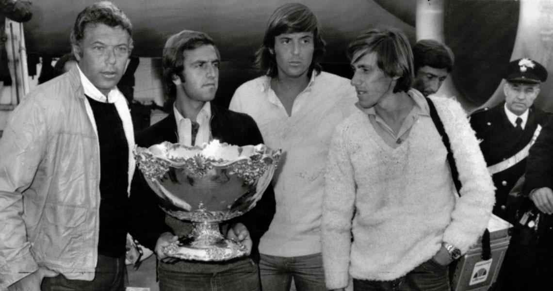 La nazionale italiana di tennis al torneo di Coppa Davis del 1976