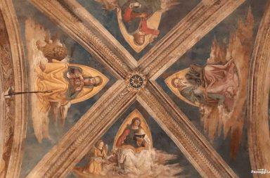 Soffitto della Cappella Bufalini di Pinturicchio a Santa Maria in Aracoeli