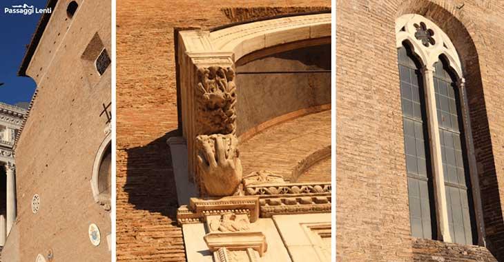 Facciata di Santa Maria in Aracoeli a Roma