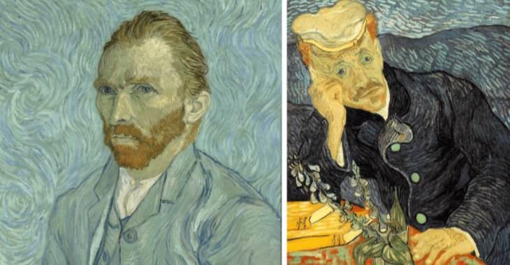 """Vincent van Gogh, """"Autoritratto"""" (1889) e """"Ritratto del dottor Gachet""""(1890)"""