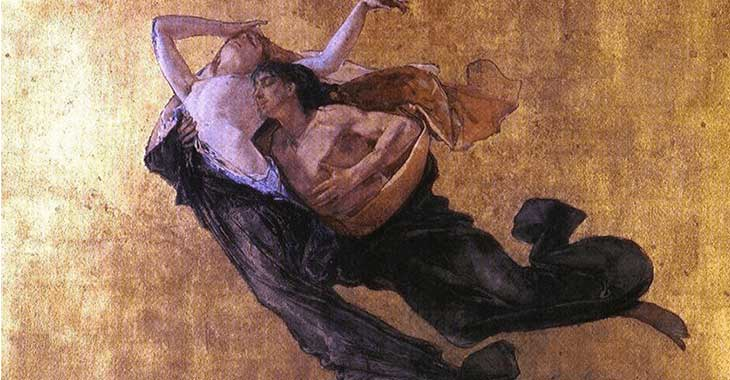 "Mosè Bianchi, ""Paolo e Francesca"", 1877"