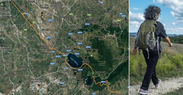 Il percorso della South Francigena Marathon