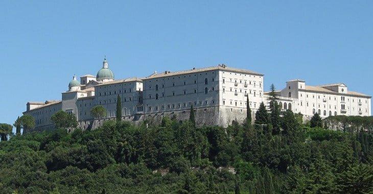 Veduta esterna dell'Abbazia di Montecassino