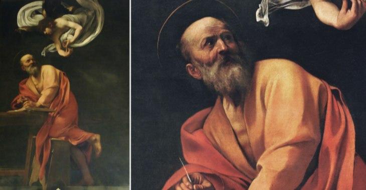 """Caravaggio, """"Vocazione di San Matteo"""", Cappella Contarelli"""