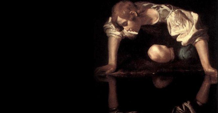 """Caravaggio, """"Narciso"""" (1597-1599)"""