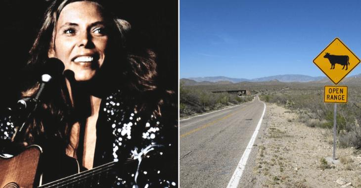 Il viaggio di Joni Mitchell che ispirò Heira. A destra un tratto della Interstate 10