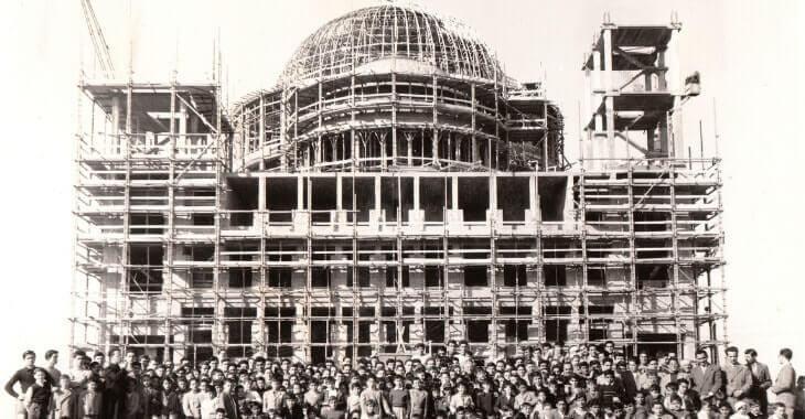 I lavori di edificazione della Basilica di Don Bosco a Roma