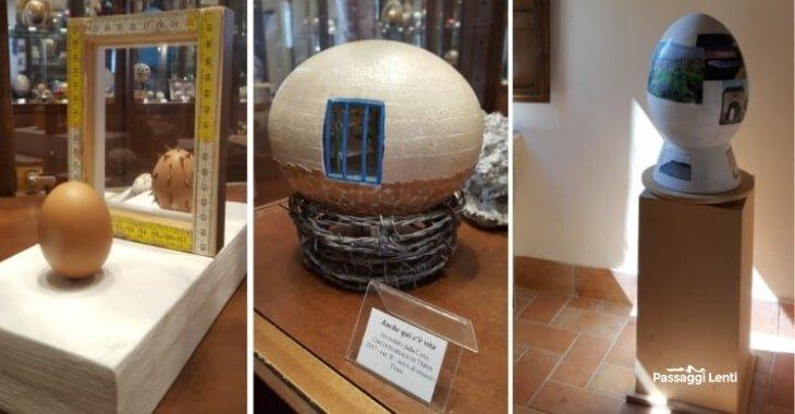 Opere esposte al Museo dell'Ovo Pinto di Civitella del Lago