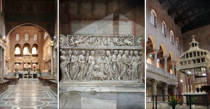 L'interno della Basilica di San Lorenzo fuori le mura