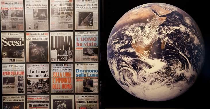 Prime pagine dei giornali sullo sbarco sulla Luna