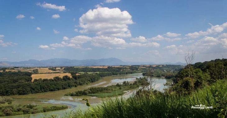 Vista dall'alto della Riserva Naturale di Nazzano Tevere-Farfa