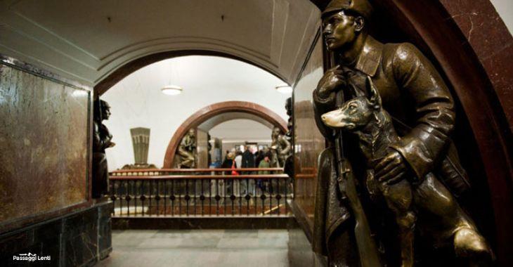 Metro di Mosca: la fermata di Ploščad' Revoljucii
