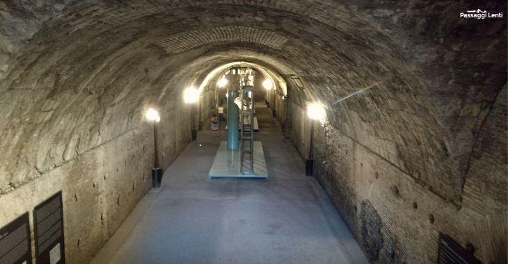 L'ingresso ai sotterranei delle Terme di Caracalla