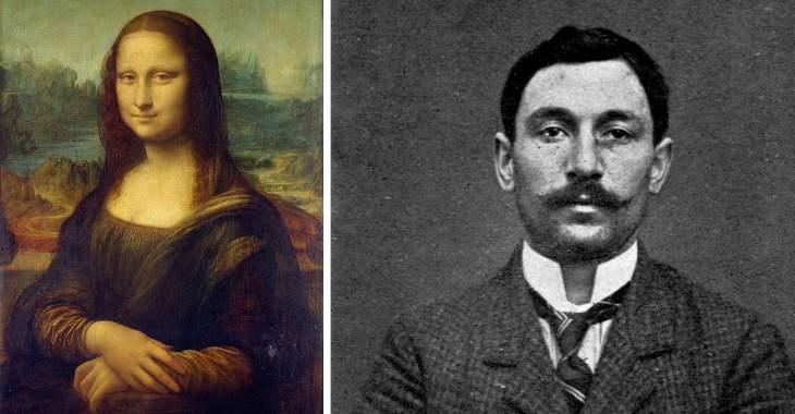 A destra Vincenzo Peruggia, l'autore del furto della Gioconda