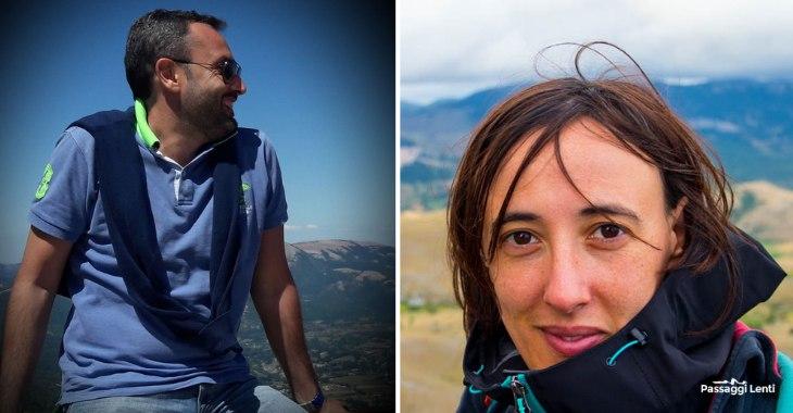Maurizio Carvigno e Giulia Pandolfi, blogger di Passaggi Lenti