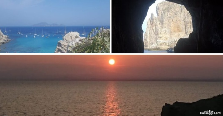 Isole Egadi: scorcio e tramonto da Favignana