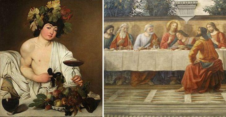 Quadri famosi sul vino: Michelangelo e Ghirlandaio