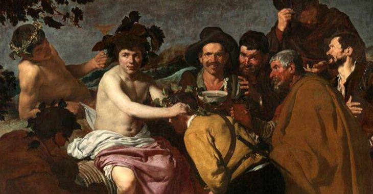 """Diego Velázquez, """"Trionfo di Bacco"""", 1628-1629, olio su tela, Museo del Prado."""