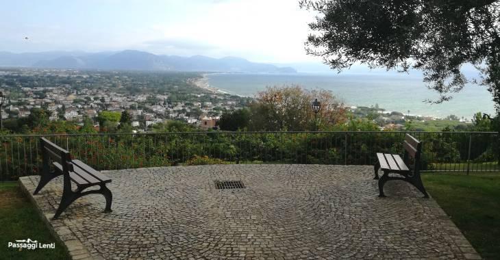 San Felice Circeo, panorama dai Giardini di Vigna La Corte