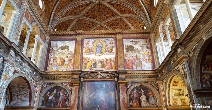 San Maurizio, l'interno della Chiesa