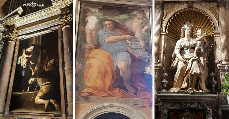Chiesa di Sant'Agostino a Roma, le opere