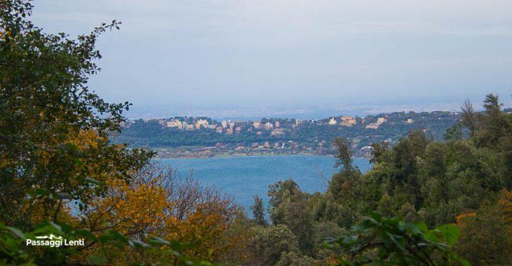 Il lago di Albano nel Parco dei Castelli Romani