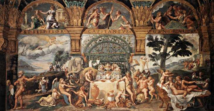 Sala di Amore e Psiche a Palazzo Te, affrescata da Giulio Romano