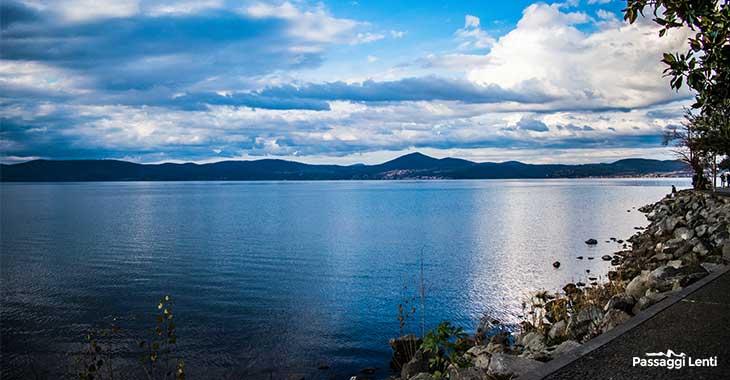 Angullara Sabazia, vista sul lago di Bracciano