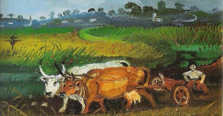 Uno dei quadri di Antonio Ligabue