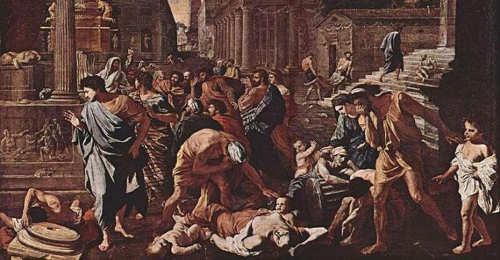 La peste nei quadri: Poussin