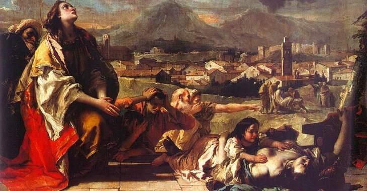 La peste nell'arte, il dipinto di Tiepolo