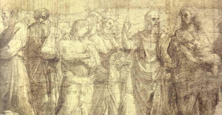 Il cartone preparatorio della Scuola di Atene di Raffaello