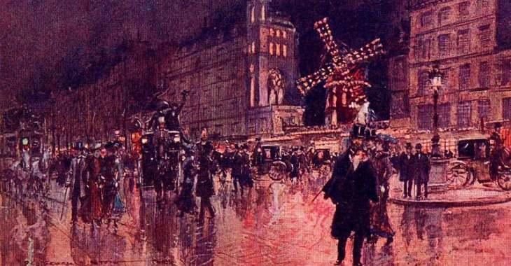 """Georges Stein, """"Le Moulin Rouge, le soir"""" (1910)"""