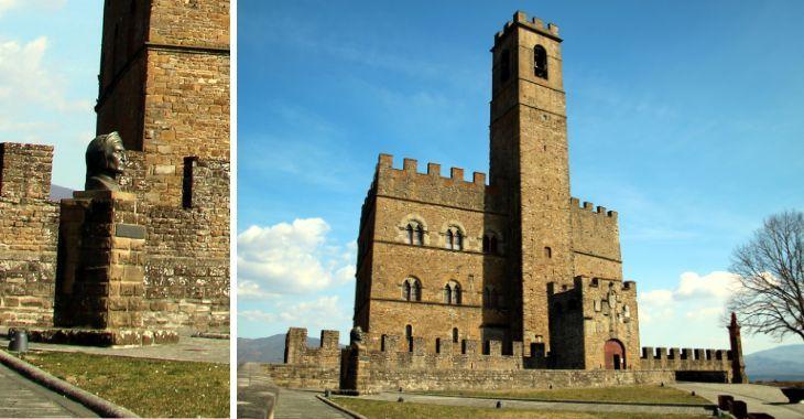 Castello di Poppi e busto di Dante